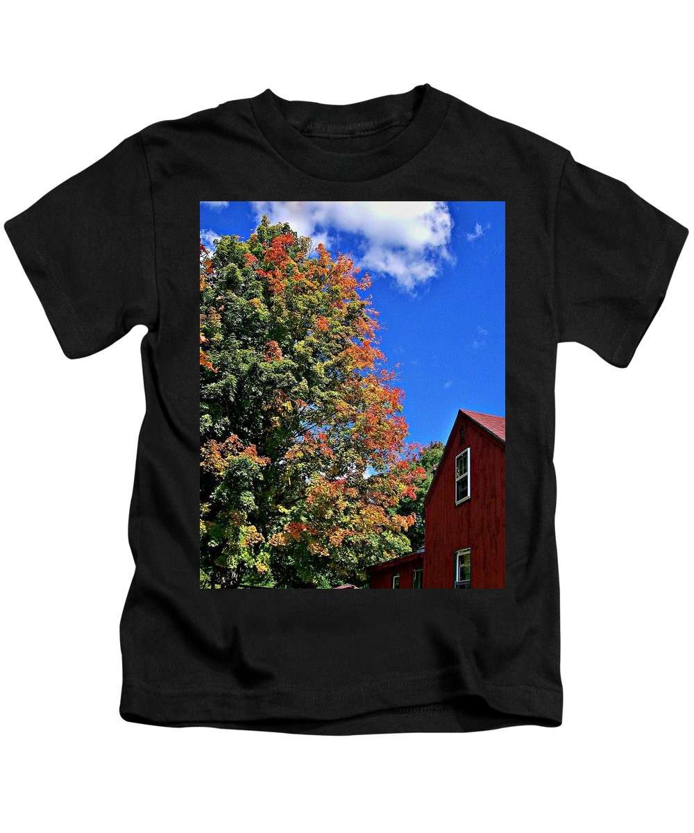 Fall Kids T-Shirt featuring the photograph September Morn by Barbara S Nickerson