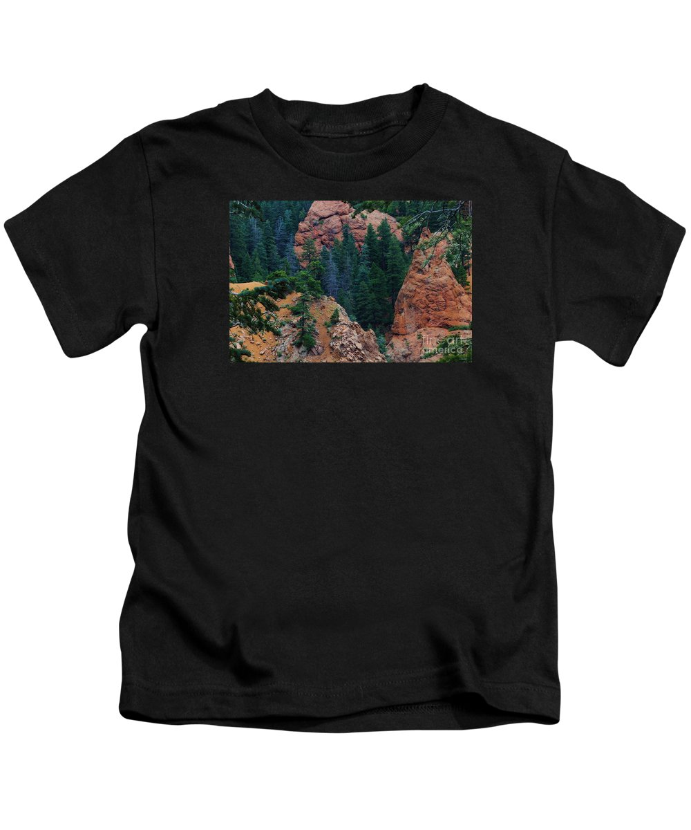 Colorado Kids T-Shirt featuring the photograph Seven Falls Mountain's Colorado by Robert D Brozek