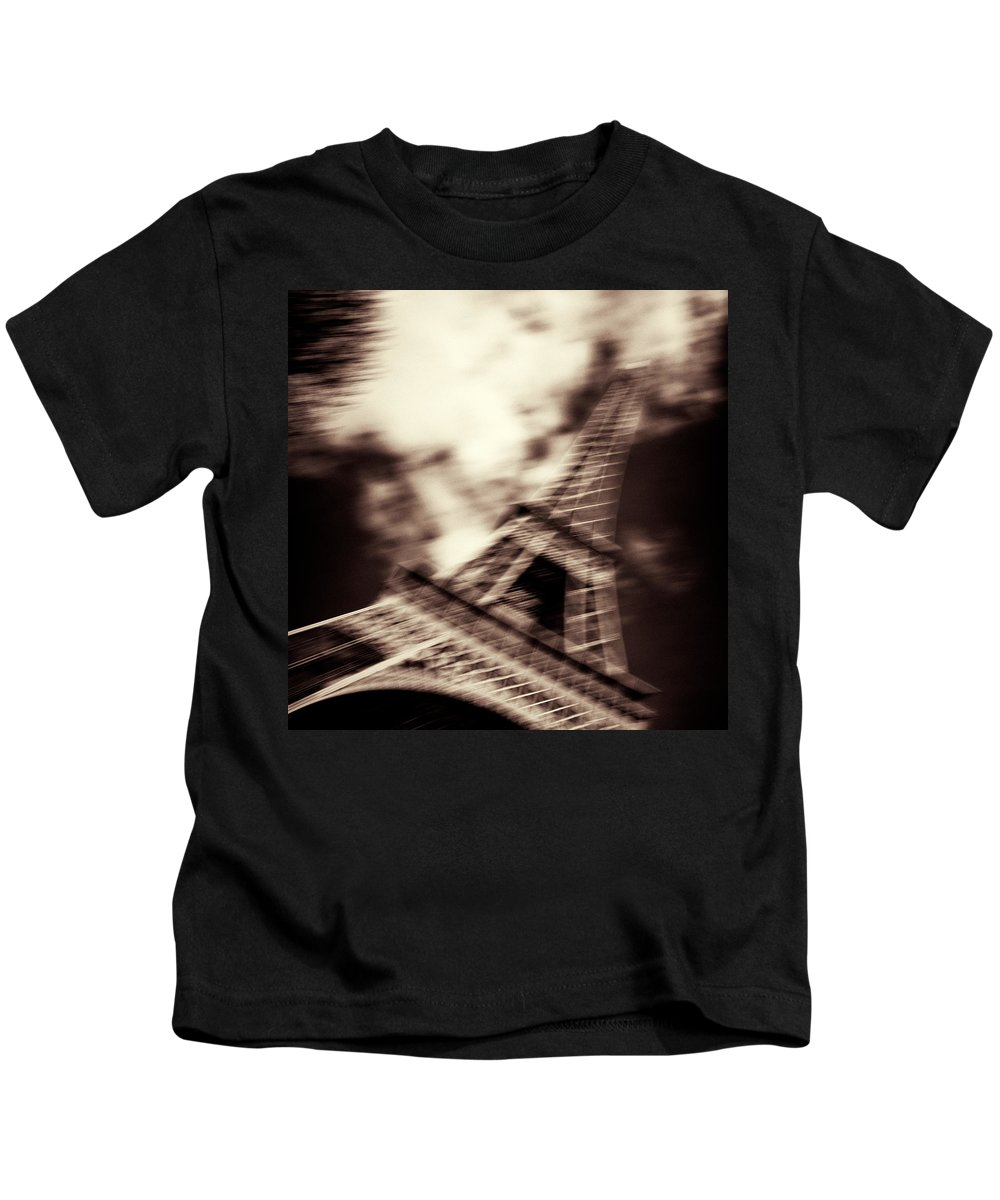 Eiffel Tower Kids T-Shirt featuring the photograph Shades Of Paris by Dave Bowman