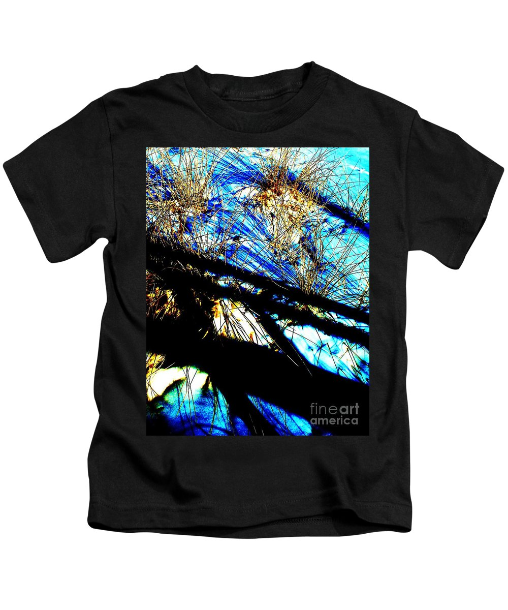Dune Kids T-Shirt featuring the photograph Shadowy Snowy Dune by Eric Schiabor