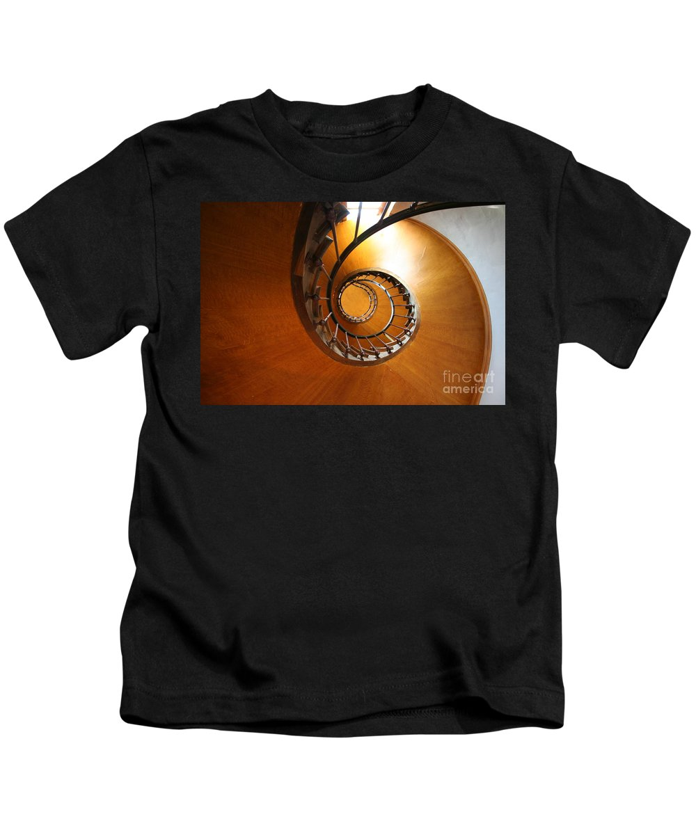 Staircase Kids T-Shirt featuring the photograph Shaft Staircase by Christiane Schulze Art And Photography