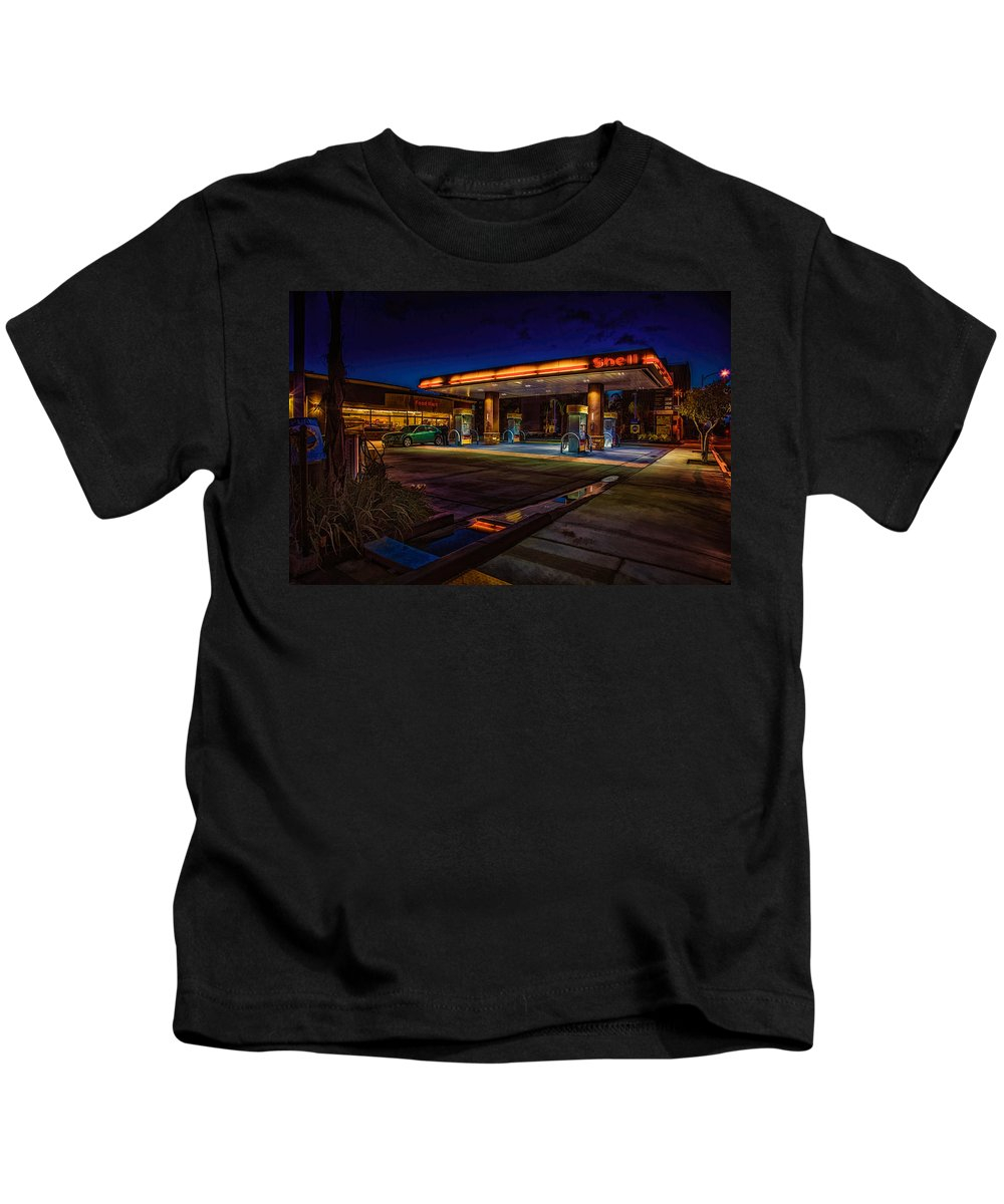 Shell Kids T-Shirt featuring the photograph Shell Station by Chris Lord