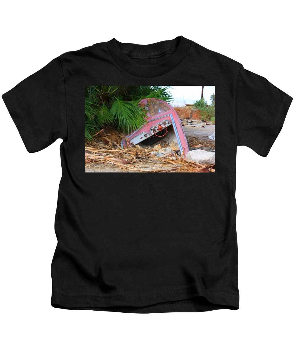 Boat Kids T-Shirt featuring the photograph Shipwrecked by Josh Brown