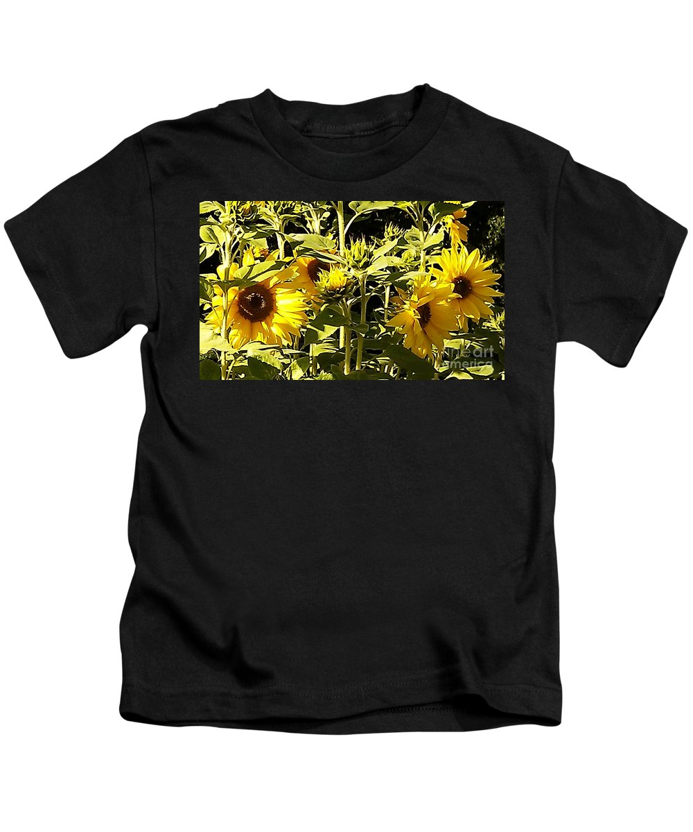 Sunflower Kids T-Shirt featuring the photograph Shout Out Summer by Martin Howard