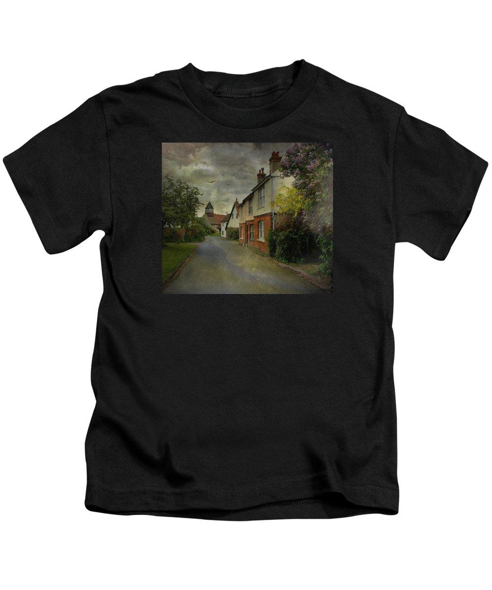 Rain Kids T-Shirt featuring the photograph Showers by Fran J Scott