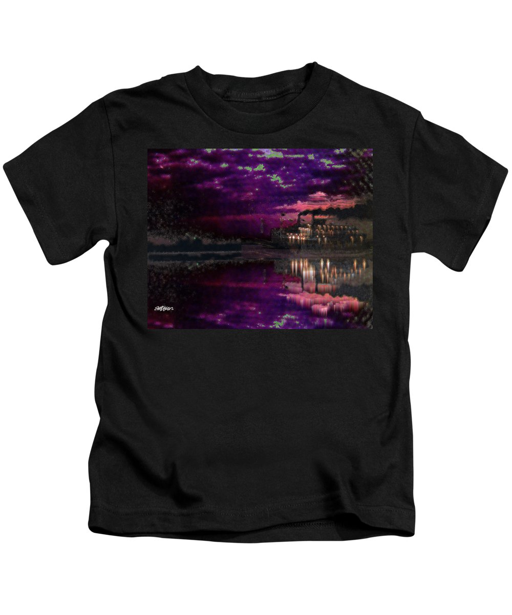 Silent River Kids T-Shirt featuring the digital art Silent River by Seth Weaver