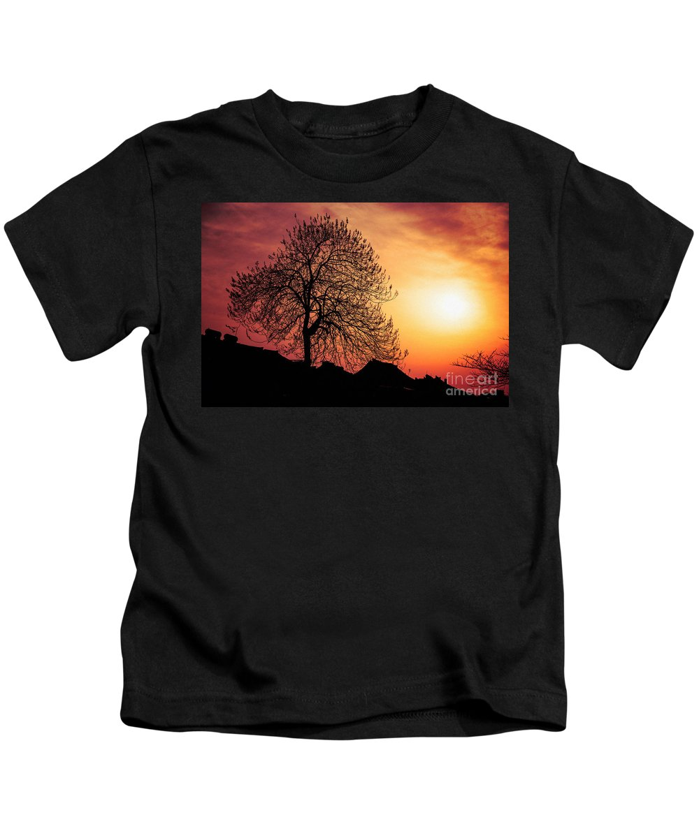 China Kids T-Shirt featuring the photograph Silhouette Of Tree by Yew Kwang