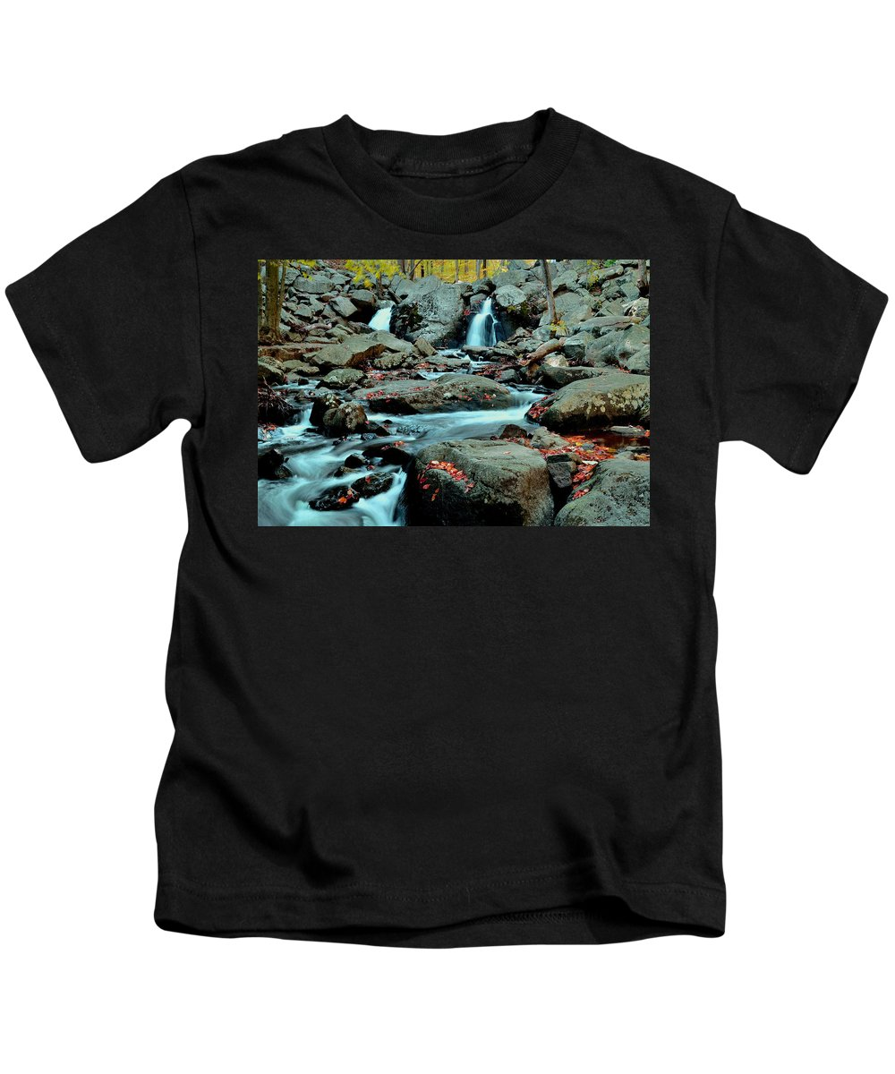 Nature Kids T-Shirt featuring the photograph Silky Water 3 by Allen Beatty
