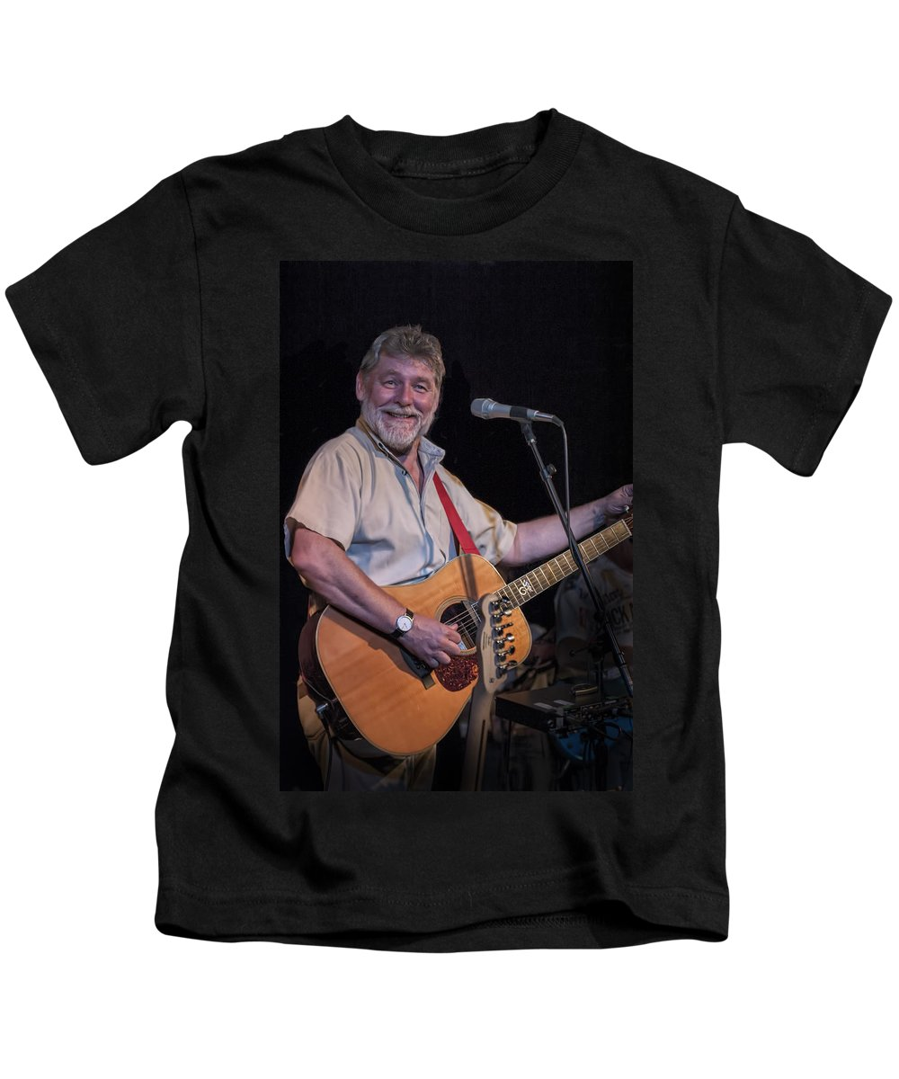 Art Kids T-Shirt featuring the photograph Simon Nicol Of Britian's Fairport Convention by Randall Nyhof