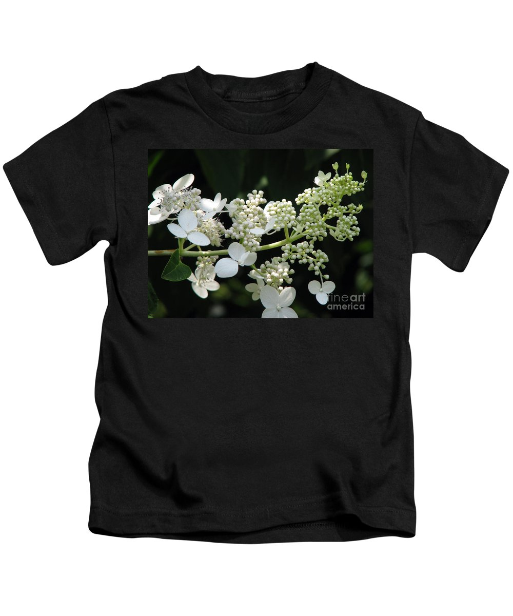 Hydrangea Kids T-Shirt featuring the photograph Simply by Amanda Barcon
