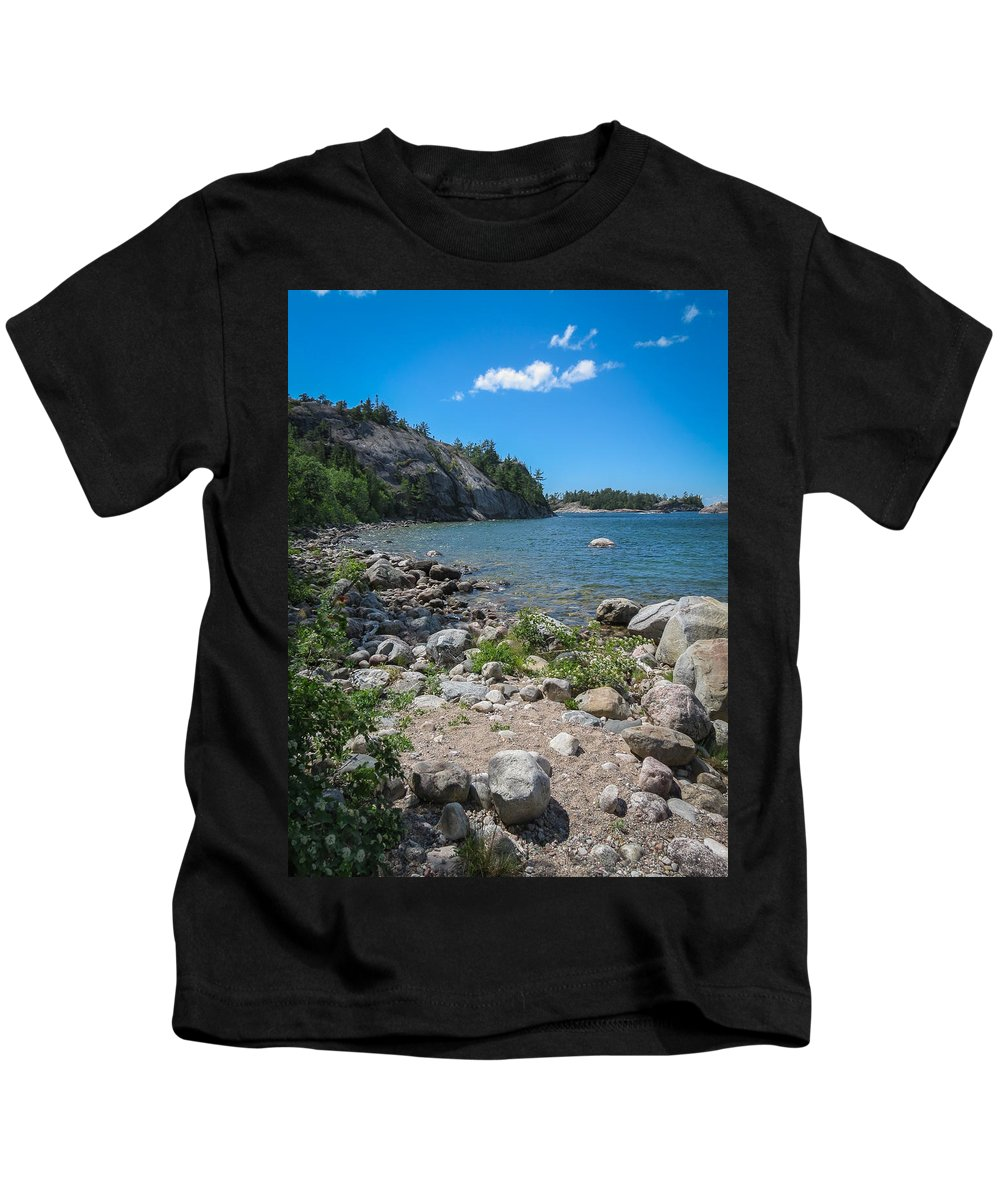 Sinclair Cove Kids T-Shirt featuring the photograph Sinclair Cove I by Patti Deters