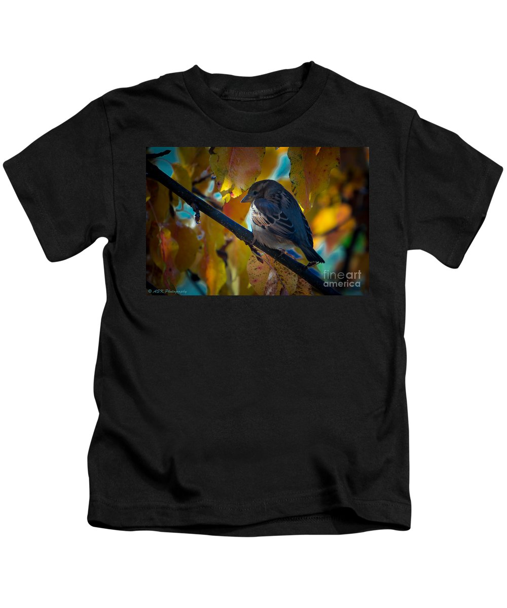 Spring Kids T-Shirt featuring the photograph Sitting Pretty by Amy S Klein