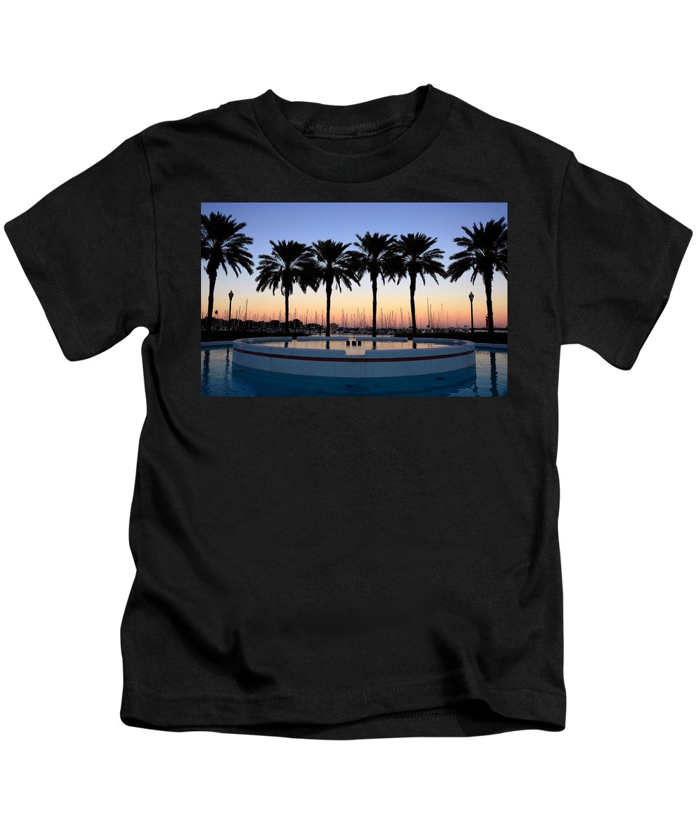 Fine Art Photography Kids T-Shirt featuring the photograph Six Palms by David Lee Thompson