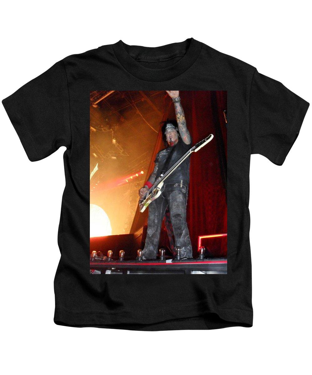 Motley Crue Kids T-Shirt featuring the photograph Sixx Sense by Sheryl Chapman Photography