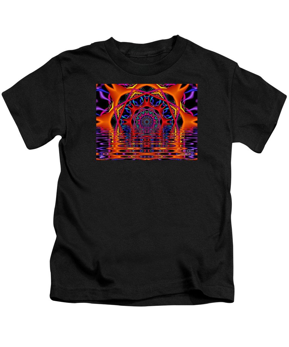 Sky Fire Kids T-Shirt featuring the digital art Sky Fire by Kimberly Hansen