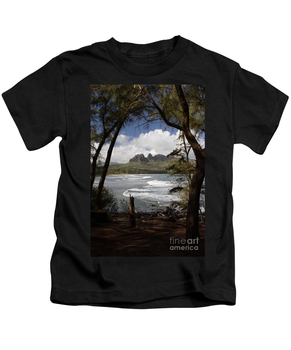 Kauai Kids T-Shirt featuring the photograph Sleeping Giant by Suzanne Luft