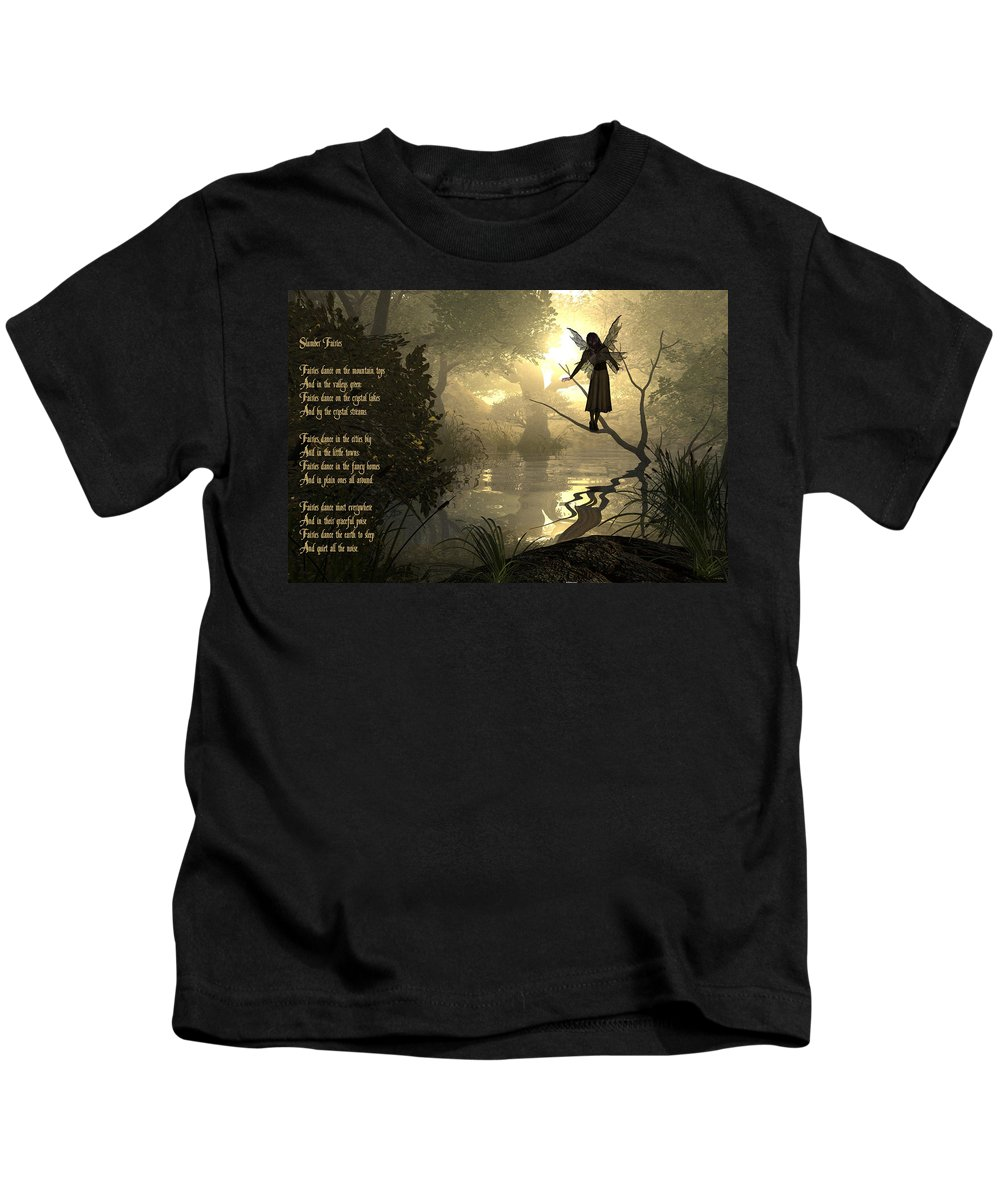 Fairy Poem Kids T-Shirt featuring the photograph Slumber Fairies by Randi Kuhne