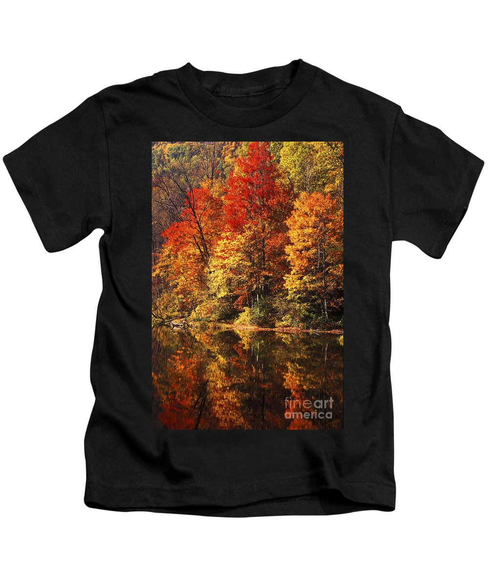 Fall Colors Kids T-Shirt featuring the photograph Smoky Mountain Colors - 234 by Paul W Faust - Impressions of Light