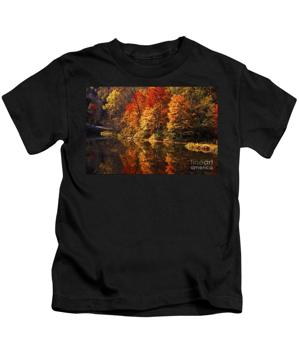 Fall Colors Kids T-Shirt featuring the photograph Smoky Mountain Colors - 235 by Paul W Faust - Impressions of Light