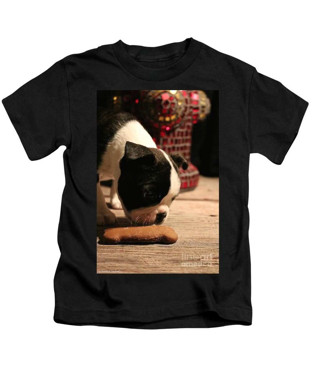 Animal.mammal Kids T-Shirt featuring the photograph Snack by Susan Herber