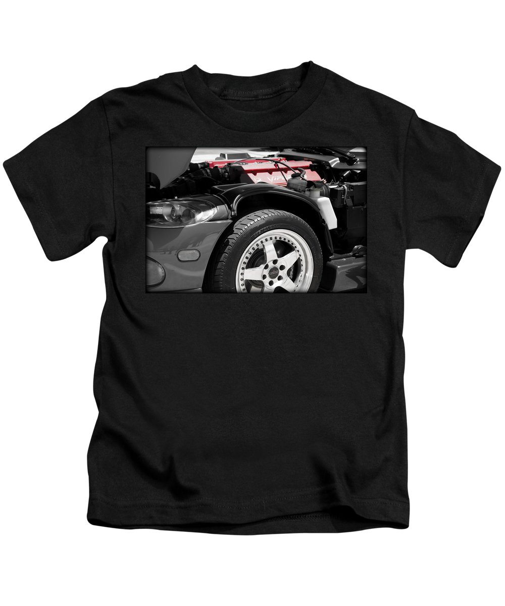 Dodge Kids T-Shirt featuring the photograph Snake Bite by Ricky Barnard