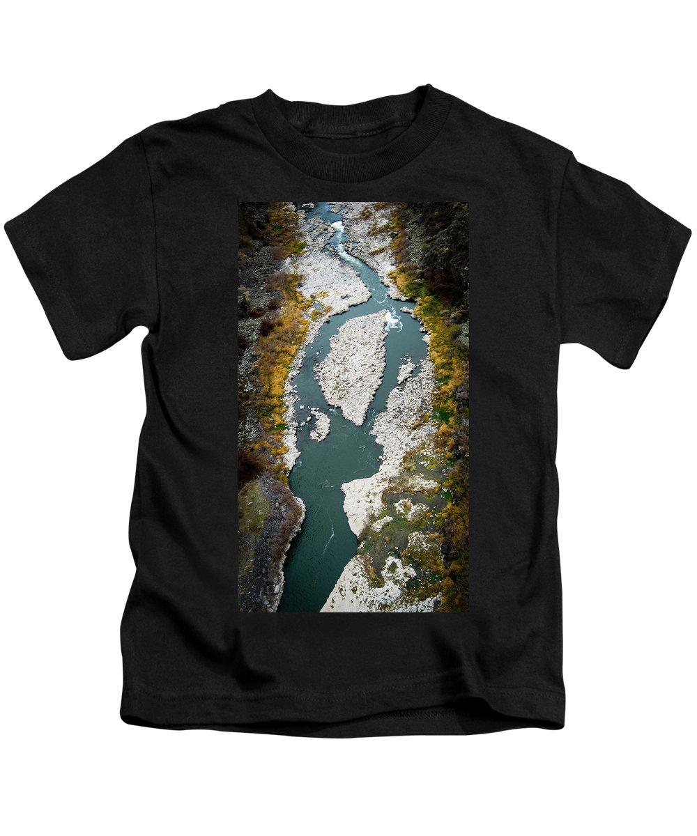 Snake River Kids T-Shirt featuring the photograph Snake River by Helix Games Photography