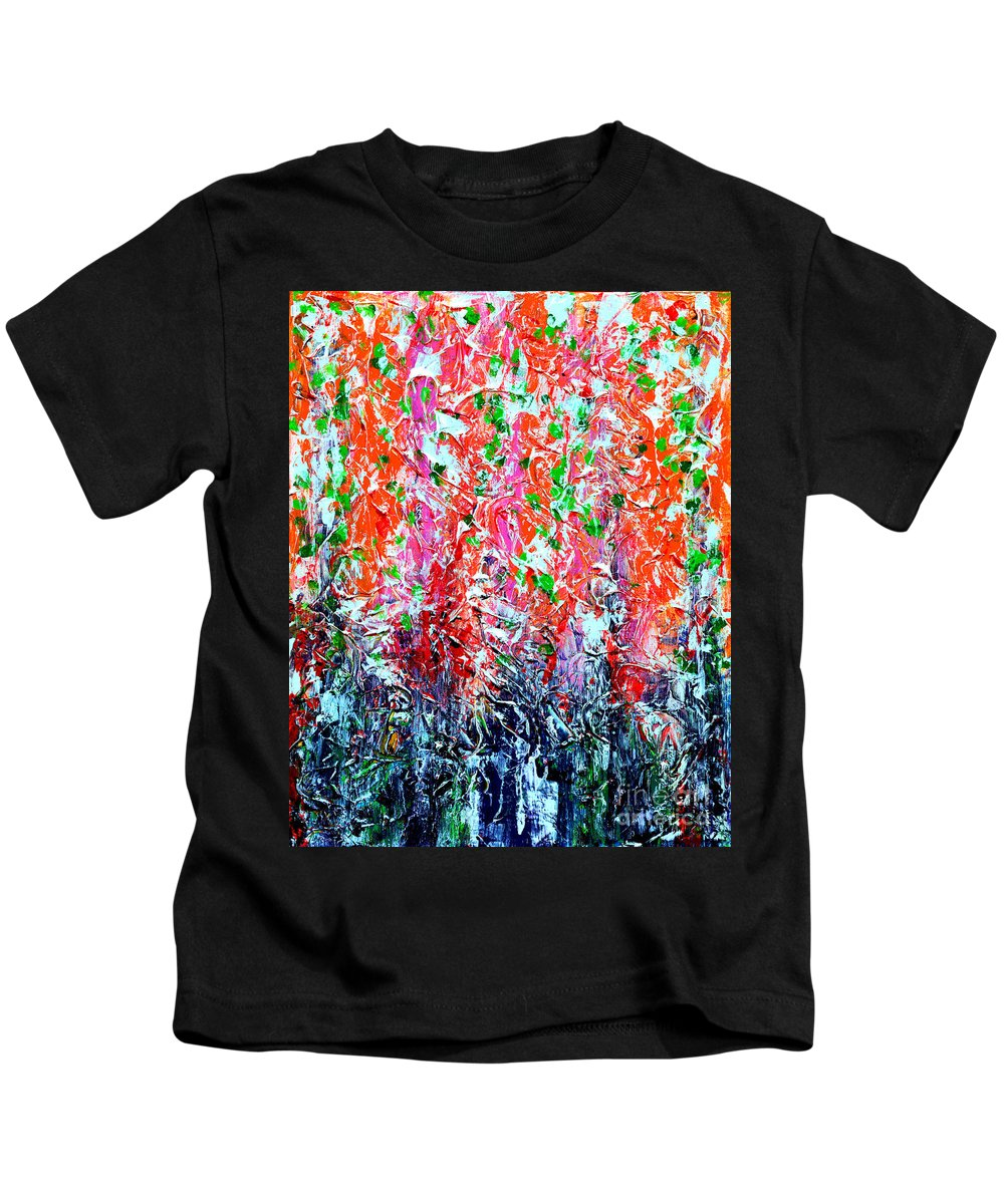 Snapdragons Kids T-Shirt featuring the digital art Snapdragons Poster by Alys Caviness-Gober