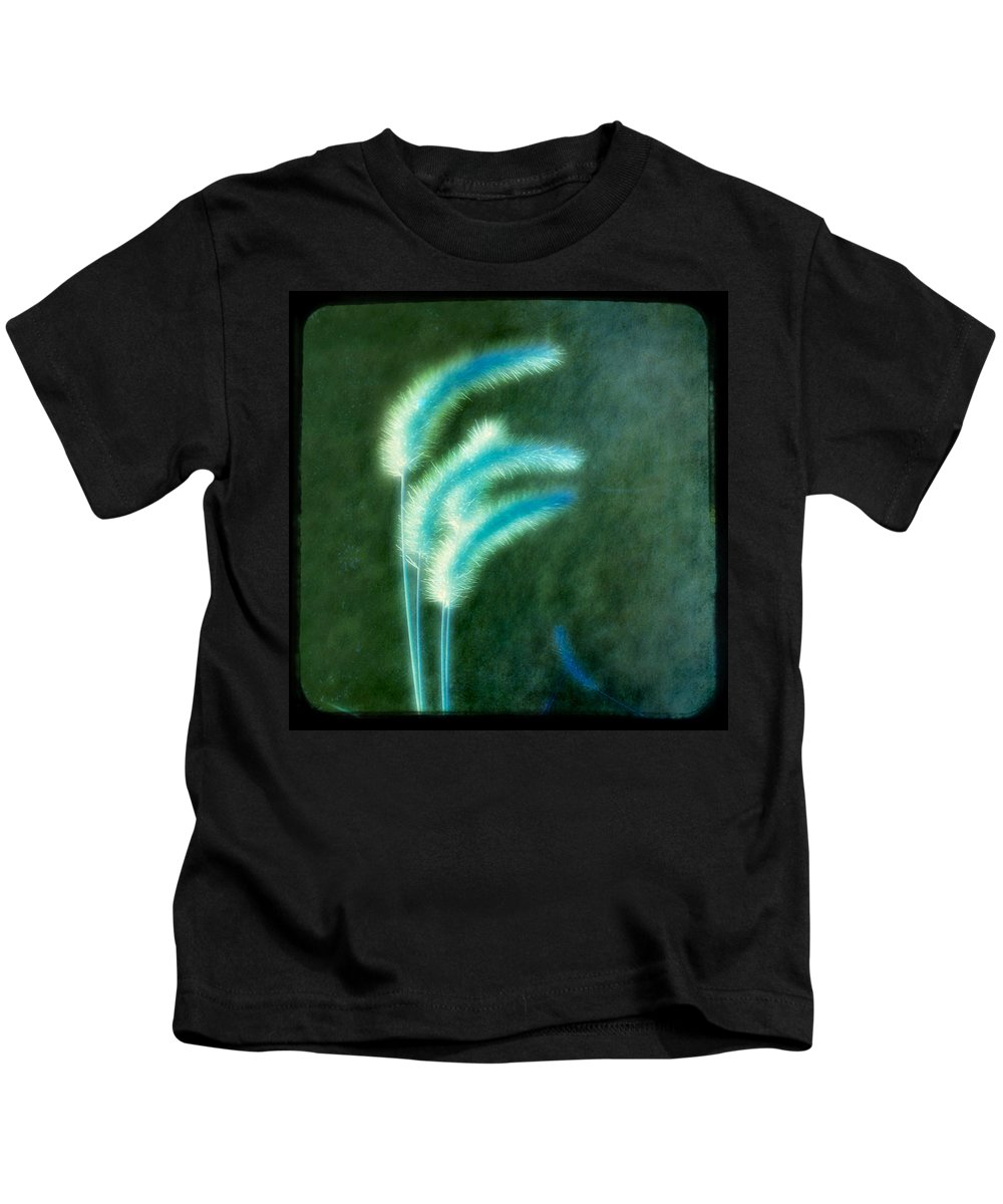Grass Kids T-Shirt featuring the photograph Soft Blue Grass by Gothicrow Images