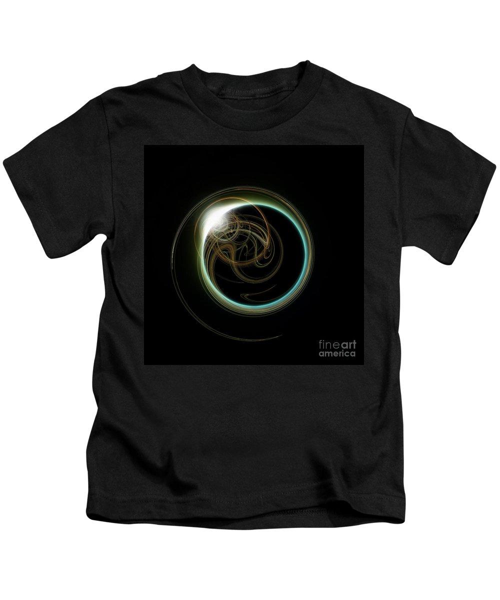 Diamond Kids T-Shirt featuring the digital art Solar Eclipse With Fractal by Antony McAulay
