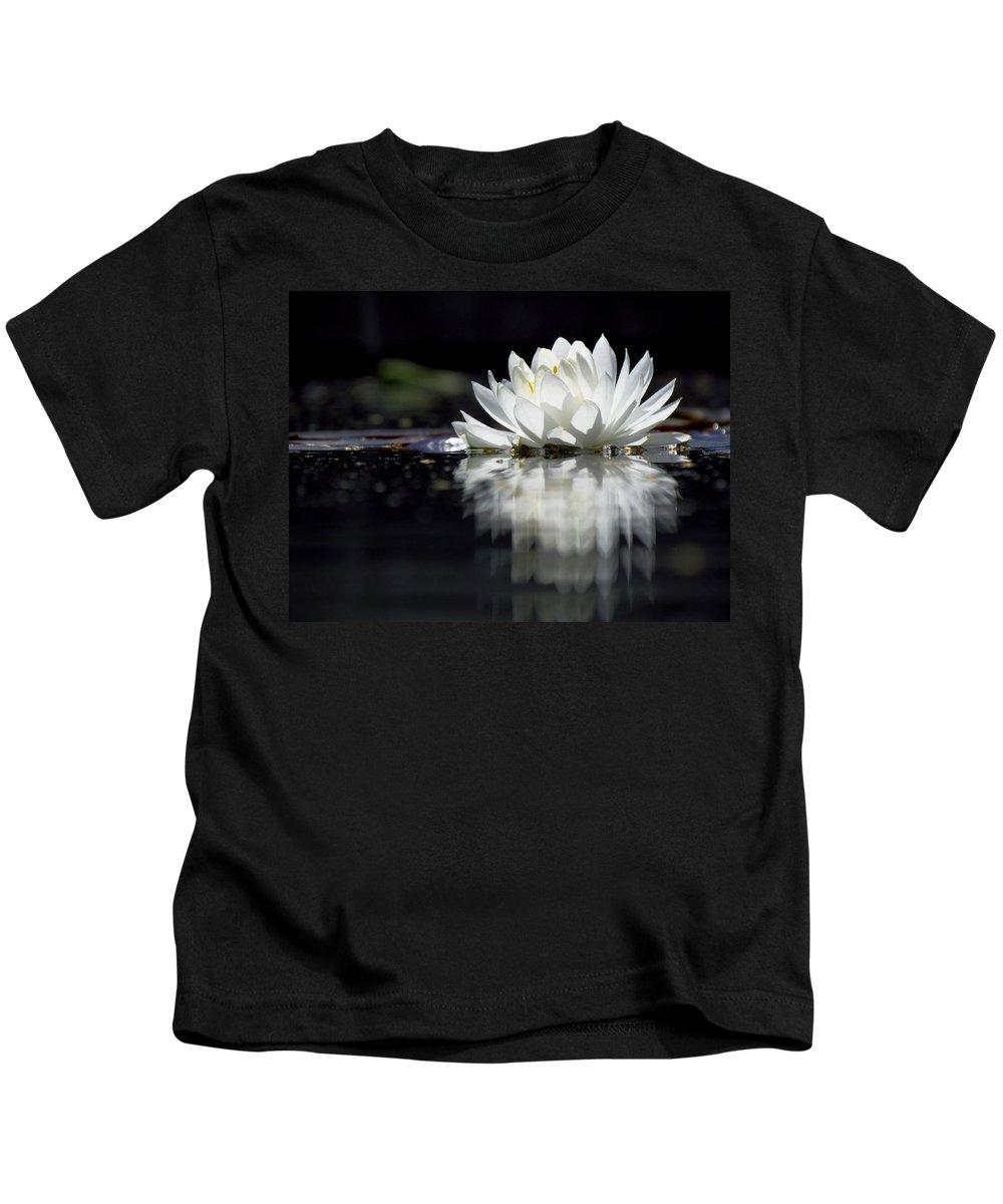 Aquatic Plants Kids T-Shirt featuring the photograph Solitude by Carol Montoya