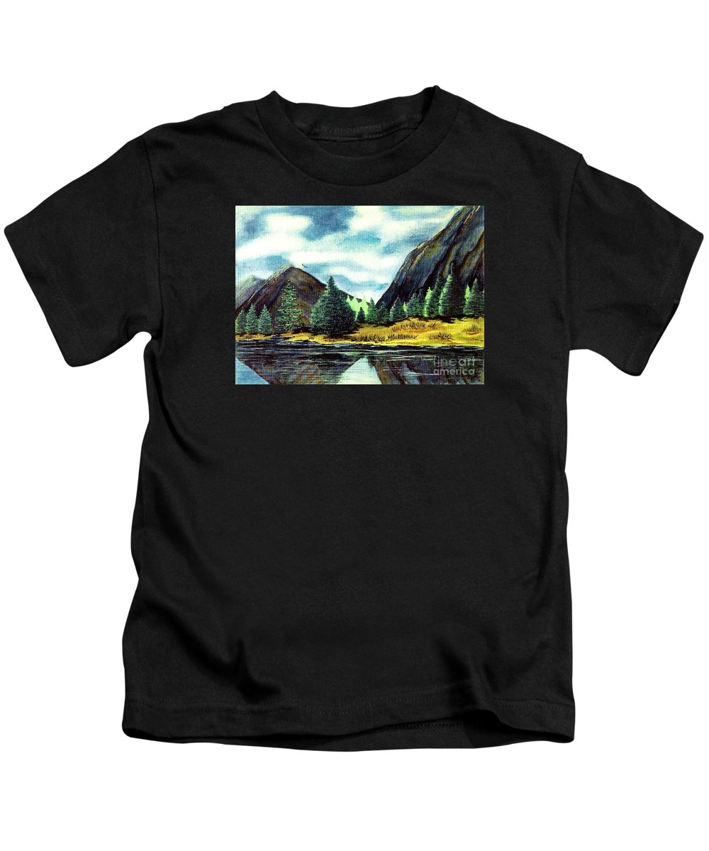 Fine Art Kids T-Shirt featuring the painting Solitude by Patricia Griffin Brett