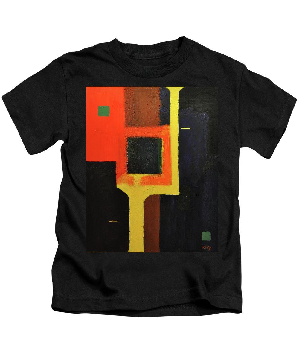 Abstract Kids T-Shirt featuring the painting Something To Do With Light by Kimberly Maxwell Grantier