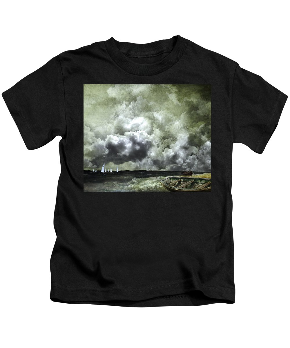 Boats Kids T-Shirt featuring the photograph Sometimes Your Luck Runs Out by Jeff Burgess