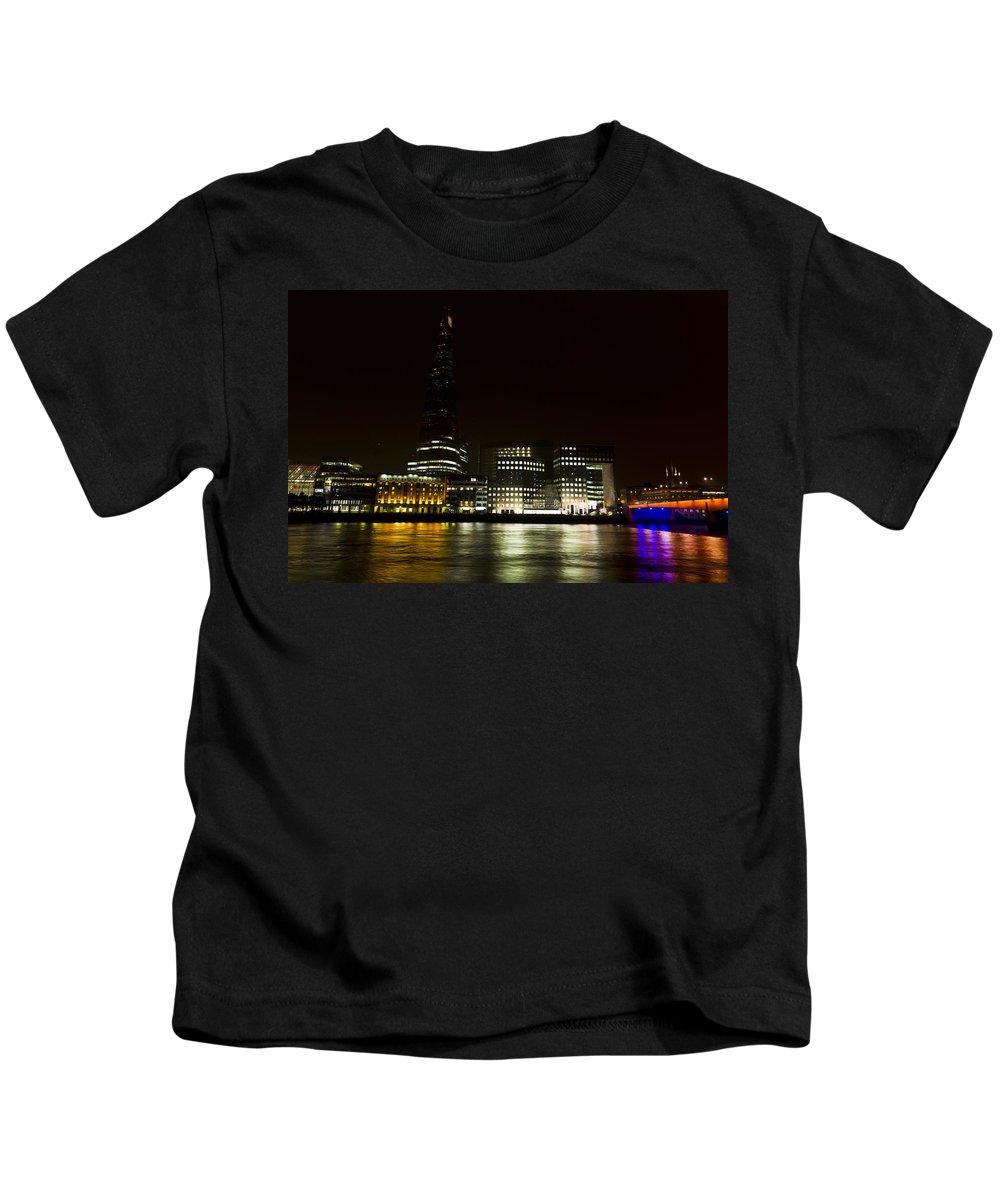 The Shard Kids T-Shirt featuring the photograph South Bank London by David Pyatt