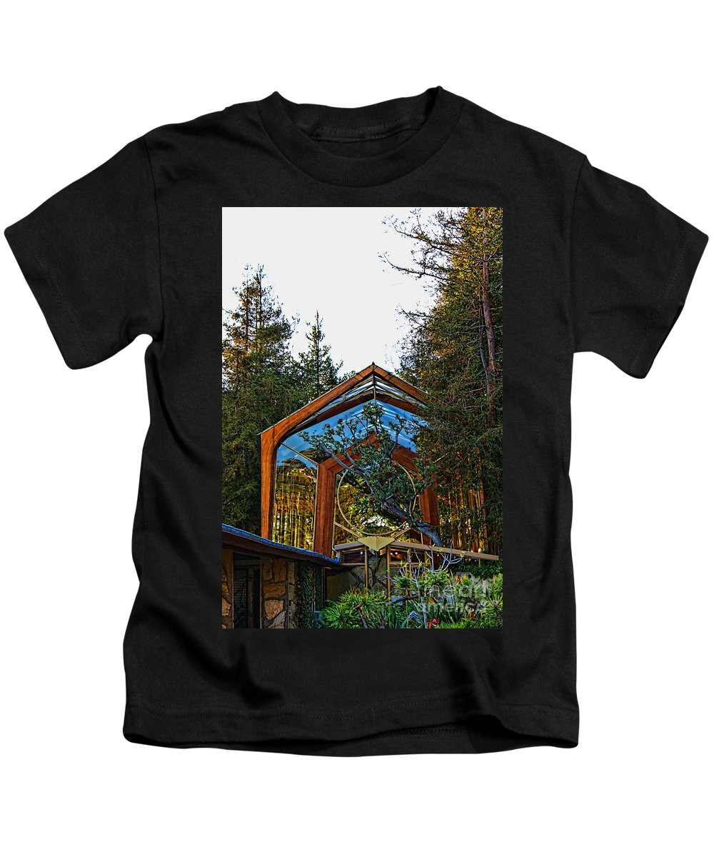 Southern California's Kids T-Shirt featuring the photograph Southern California's Wafarers Chapel 3 by Tommy Anderson