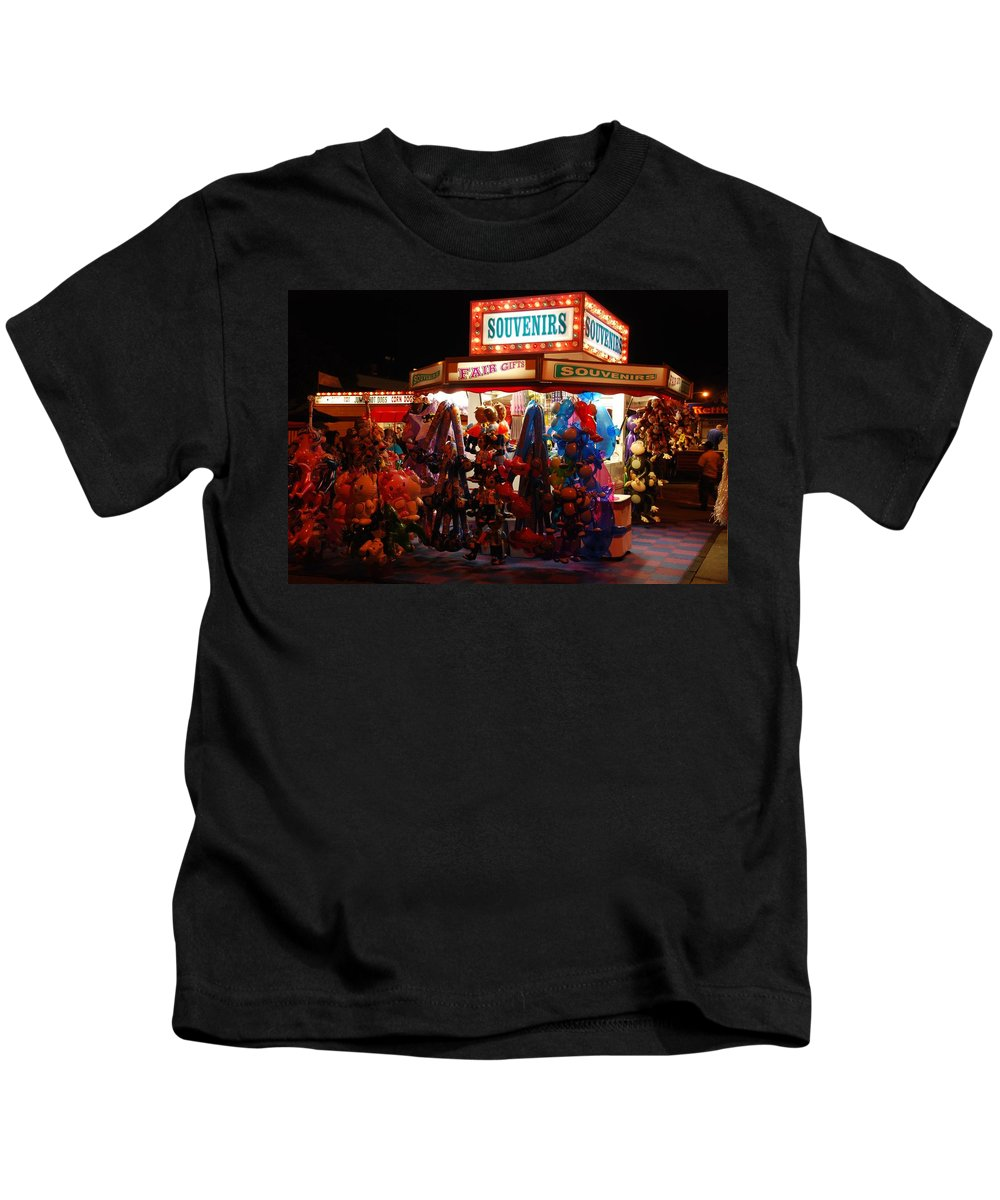 State Fair Kids T-Shirt featuring the photograph Souvenirs And Fair Gifts by Eric Tressler