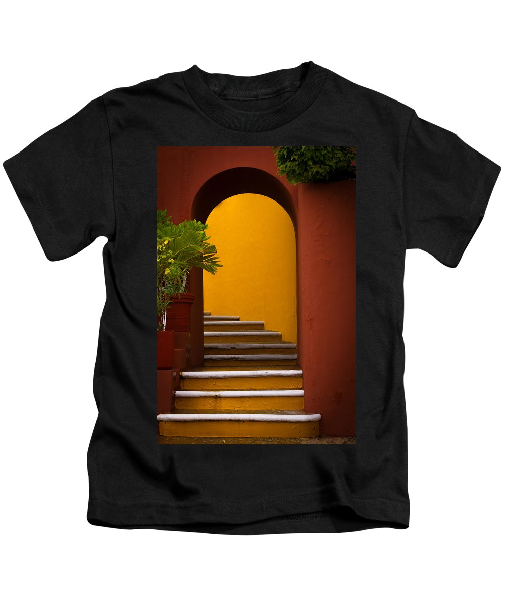 Stairway Kids T-Shirt featuring the photograph Spanish Stairway by Jacquelyn Crady