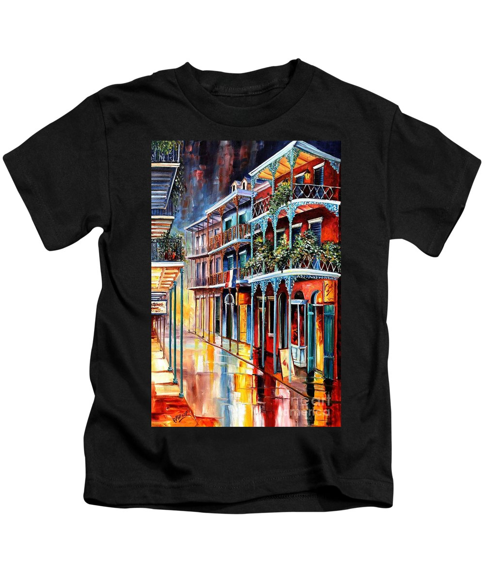 New Orleans Kids T-Shirt featuring the painting Sparkling French Quarter by Diane Millsap