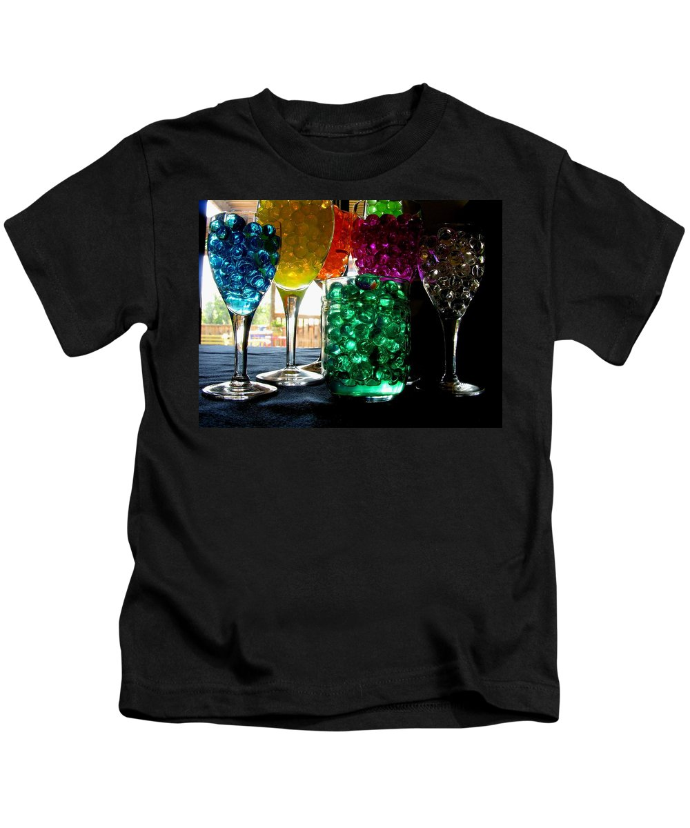 Polymer Gel Kids T-Shirt featuring the photograph Spherical Polymer Gel 1 by Ru Tover