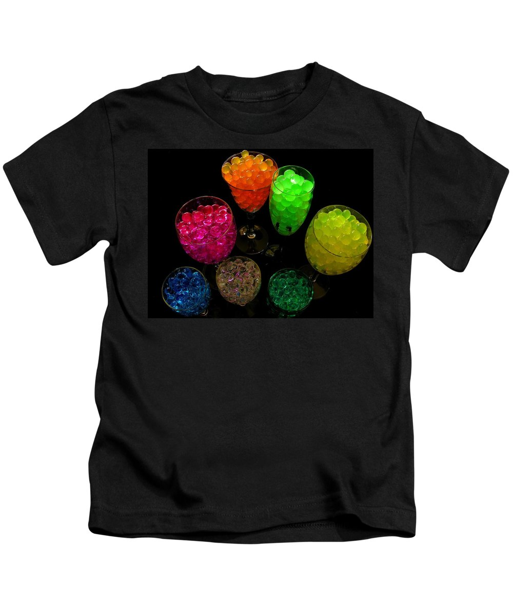 Polymer Gel Kids T-Shirt featuring the photograph Spherical Polymer Gel 2 by Ru Tover