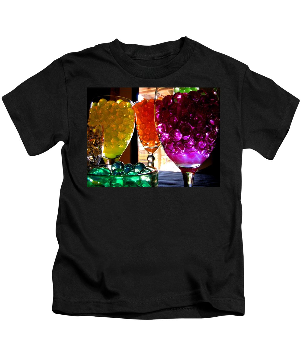 Polymer Gel Kids T-Shirt featuring the photograph Spherical Polymer Gel 4 by Ru Tover