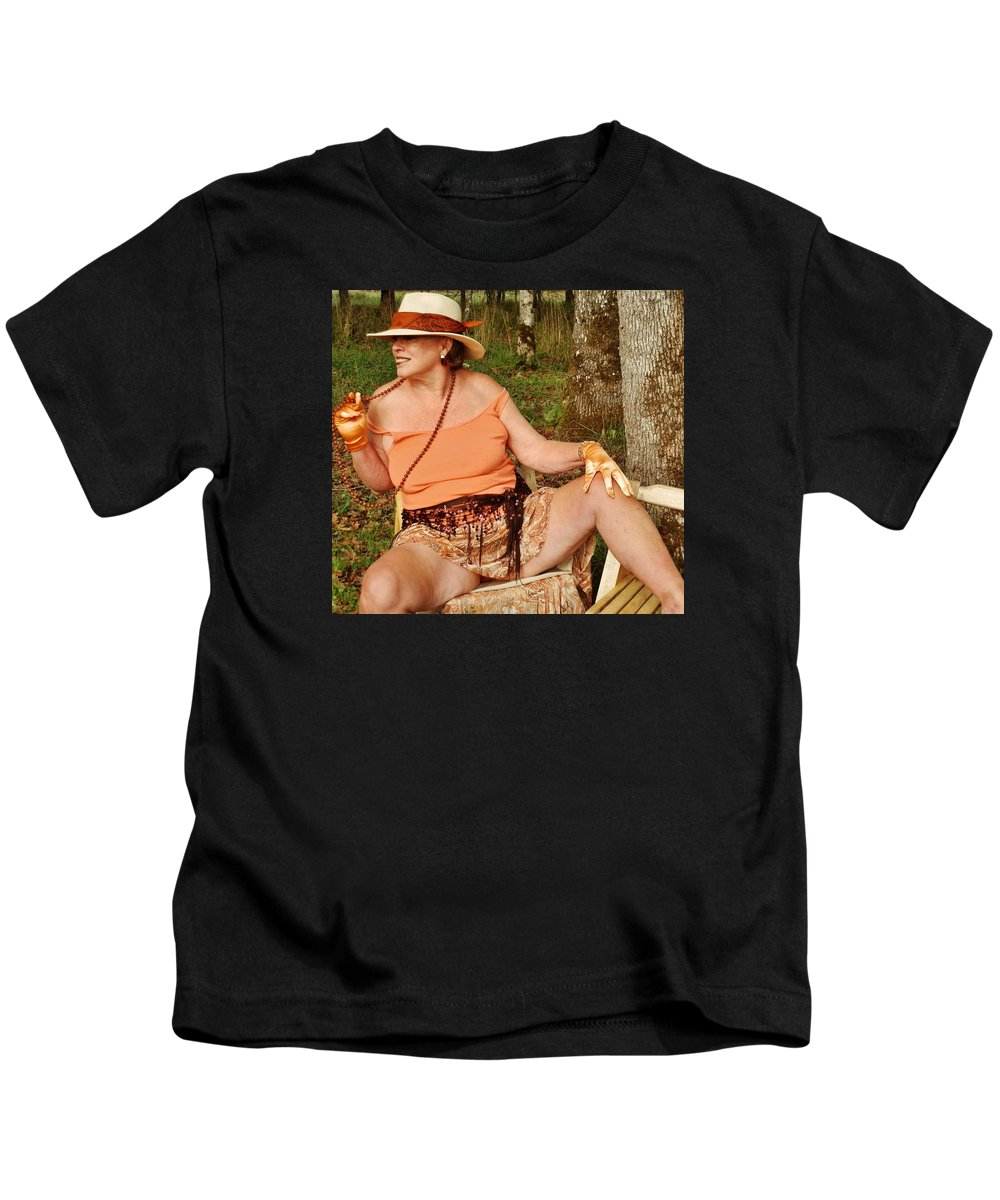 Portrait Kids T-Shirt featuring the photograph Spiced Accents by VLee Watson