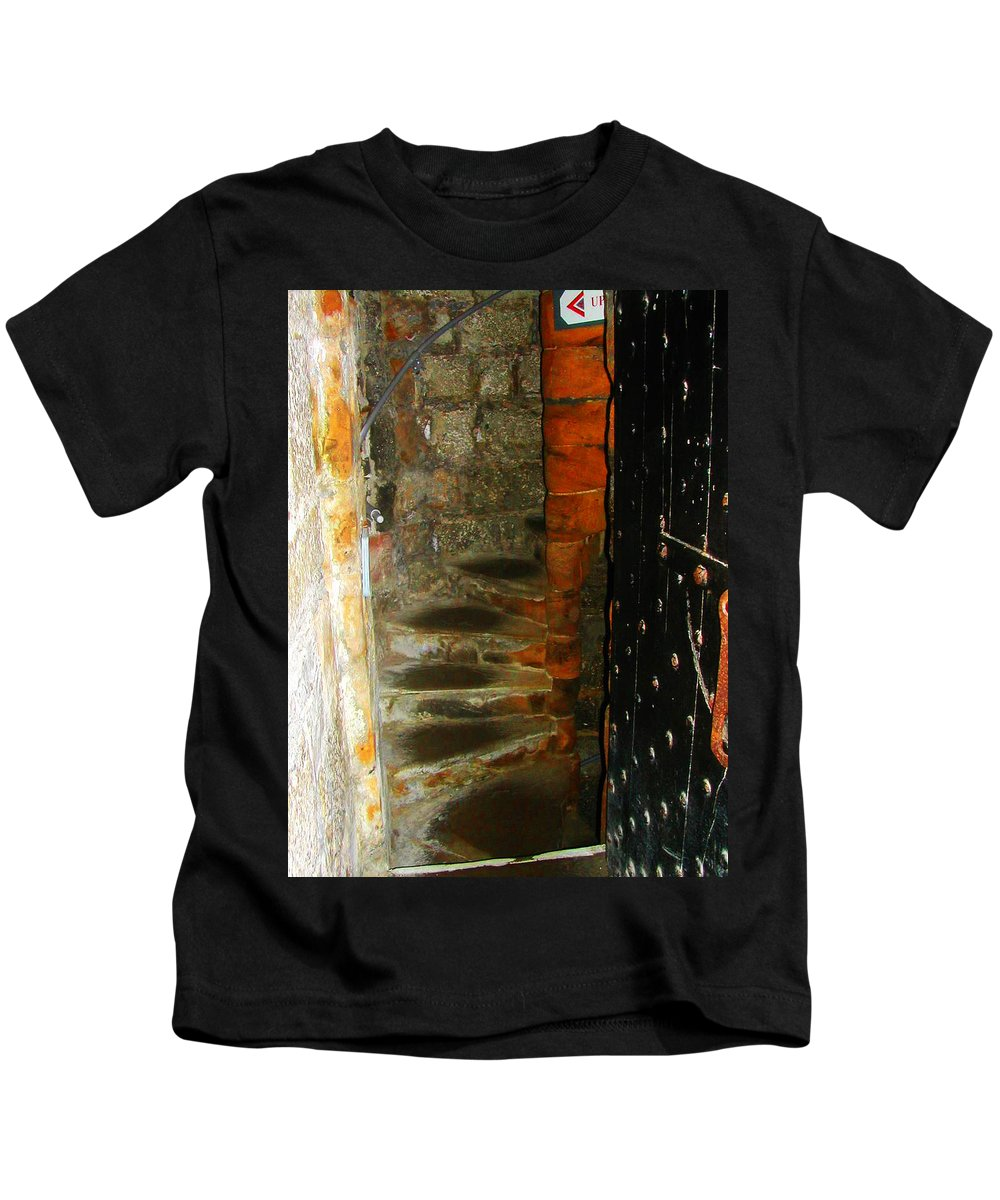 Expressive Kids T-Shirt featuring the photograph Spiral Abstract by Lenore Senior