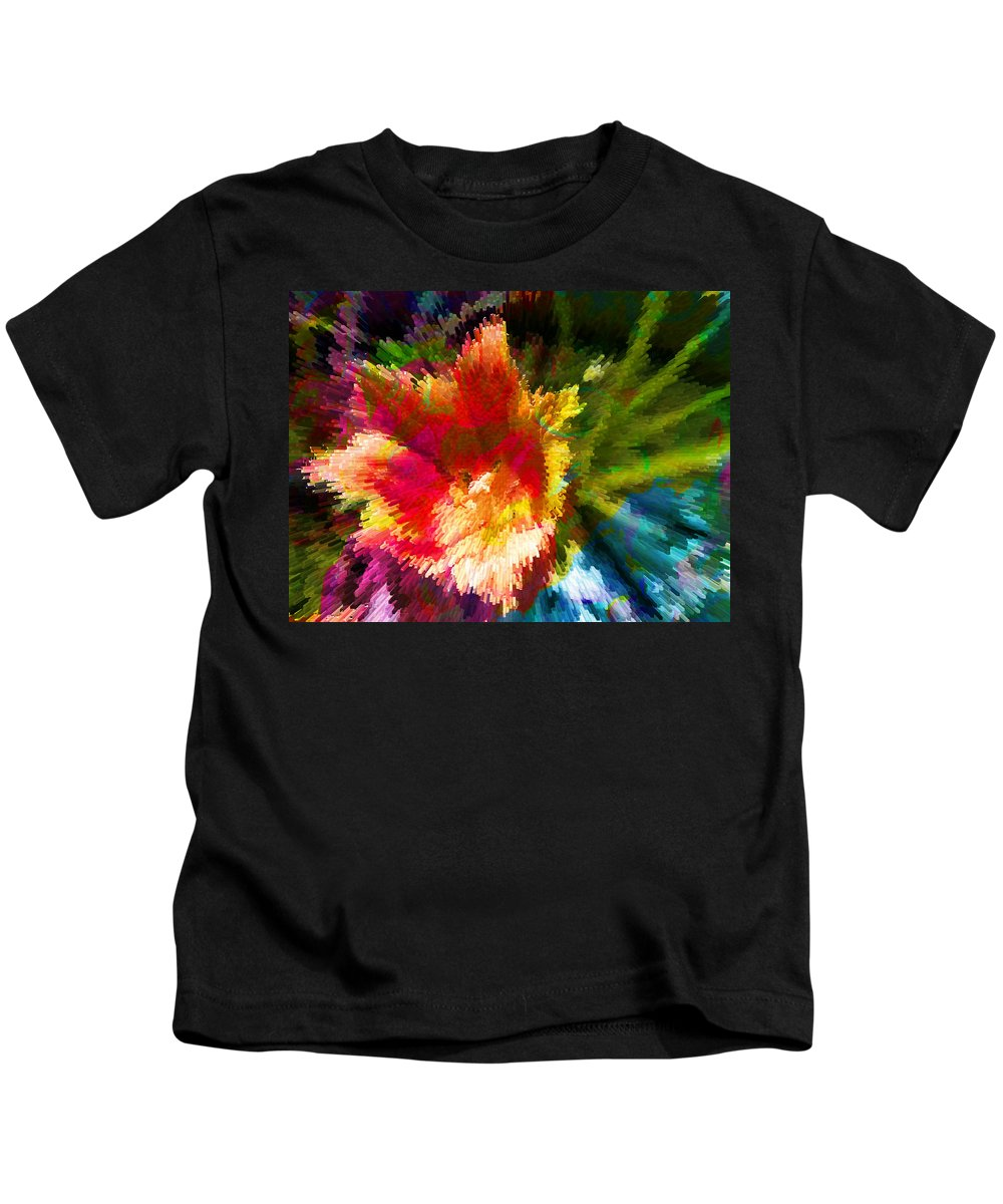 Abstract Kids T-Shirt featuring the photograph Spring Abstraction I by Tina Baxter