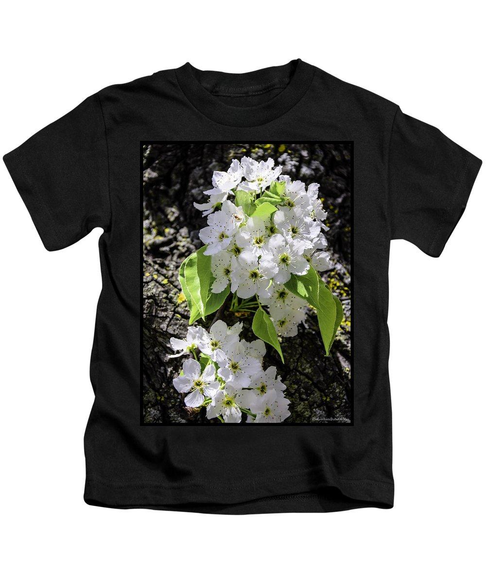 Usa Kids T-Shirt featuring the photograph Spring Apple Blossoms by LeeAnn McLaneGoetz McLaneGoetzStudioLLCcom