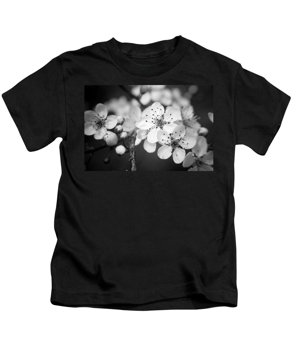 B&w Kids T-Shirt featuring the photograph Spring Blooms 6690 by Timothy Bischoff