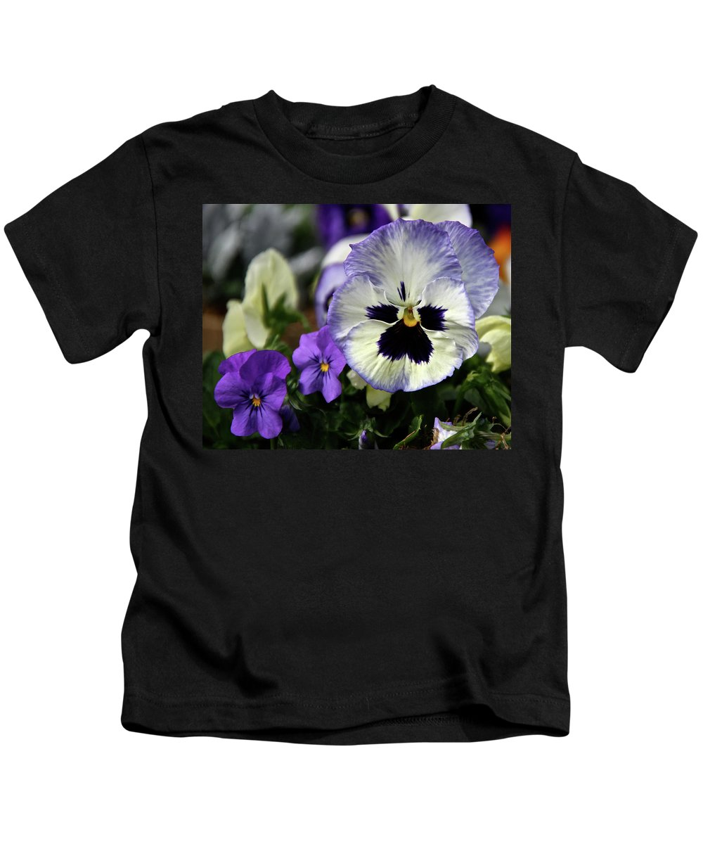Pansy Kids T-Shirt featuring the photograph Spring Pansy Flower by Ed Riche