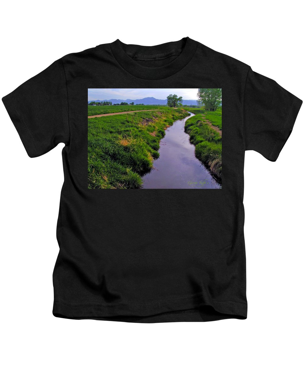 Spring Walk East Boulder Colorado Rocky Mountains Teller Lake Boulder Open Space Kids T-Shirt featuring the photograph Spring Walk by George Tuffy