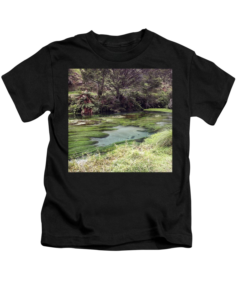 Marsh Kids T-Shirt featuring the photograph Spring Water by Les Cunliffe