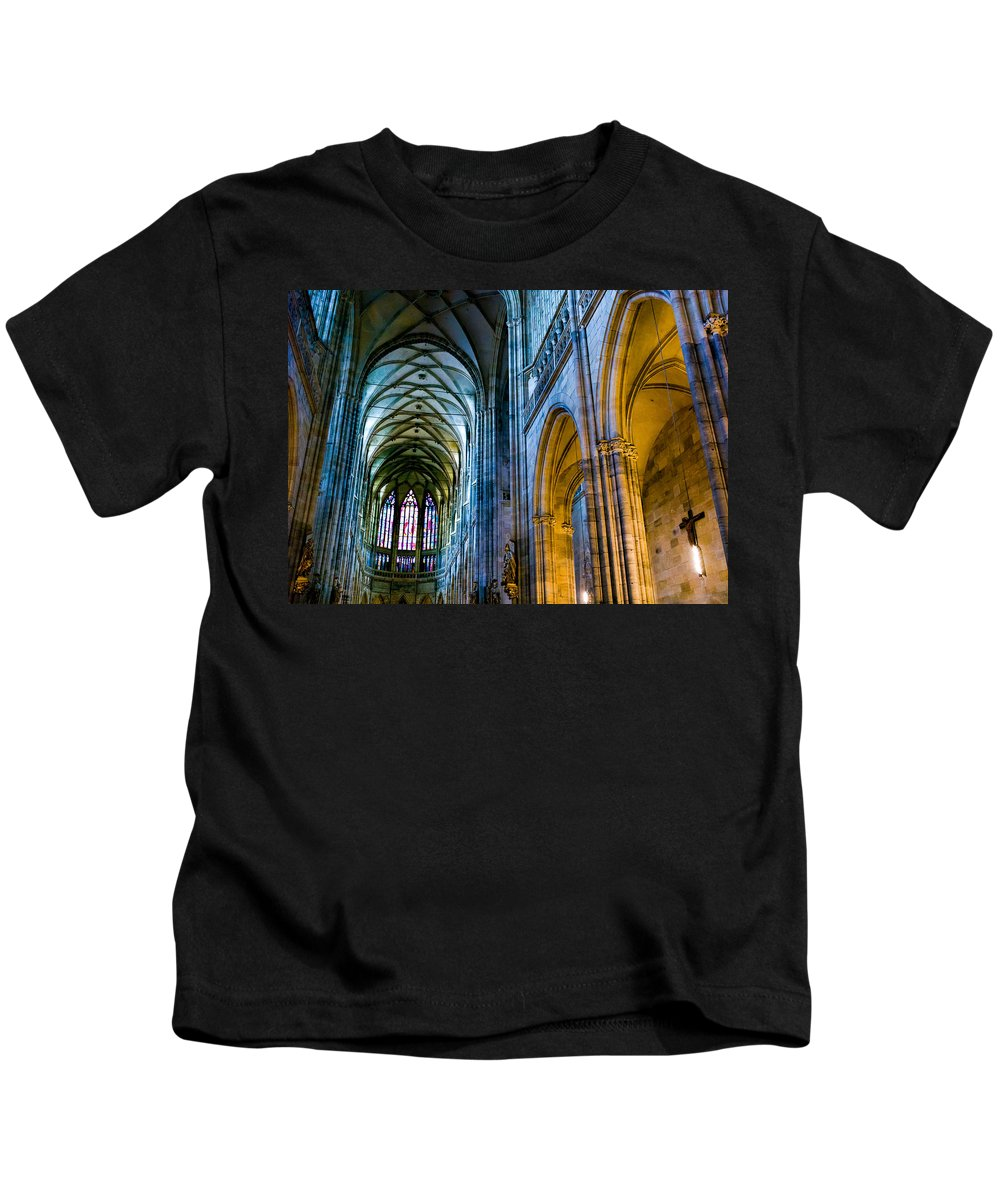 St Vitus Cathedral Kids T-Shirt featuring the photograph St Vitus Cathedral by Dave Bowman